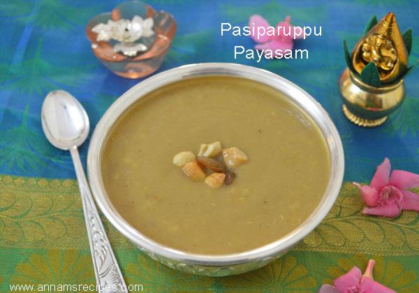 Pasiparuppu Payasam