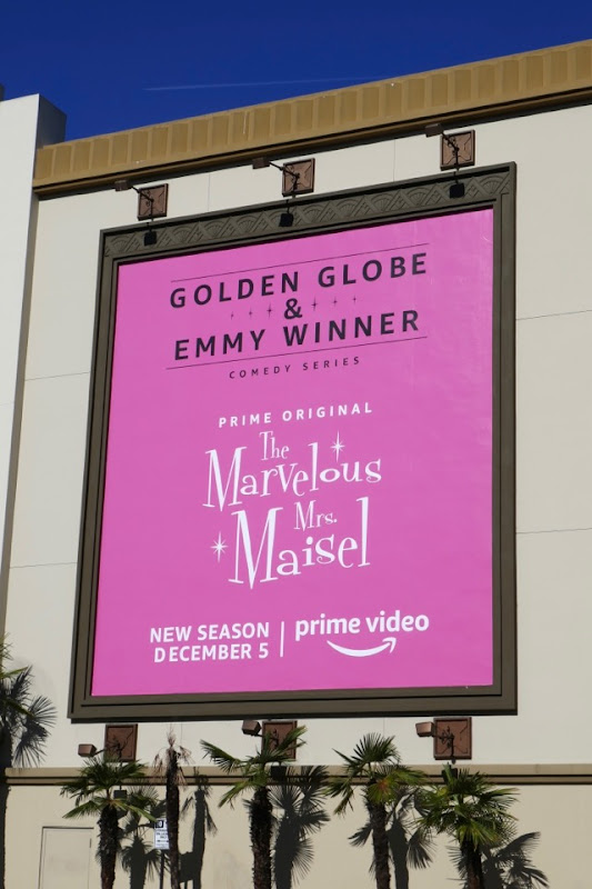 Mrs Maisel Golden Globe Emmy winner billboard