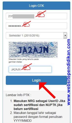 Cara Login GTK untuk Cek Info PTK dan Lapor Tunjangan Dikdas Terbaru  Cara Login GTK untuk Cek Info PTK dan Lapor Tunjangan Dikdas Terbaru 2015