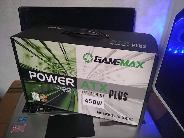 GAMEMAX GP450 - Bentuk fisik secara langsung
