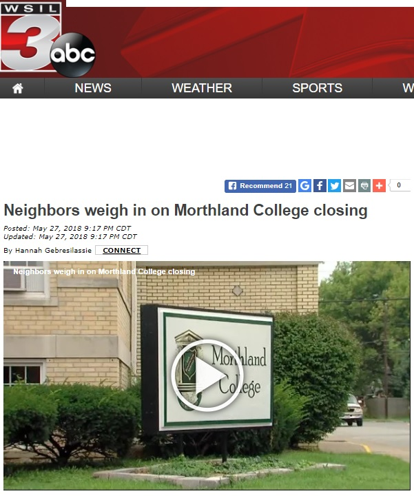 College History Garden: Troubled Morthland College Announces