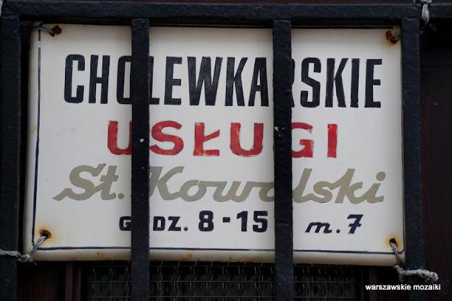 Warszawa Warsaw szyld retro