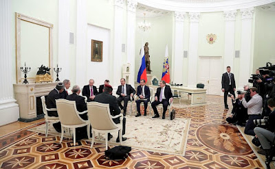 Benjamin Netanyahu, Vladimir Putin, diplomats.