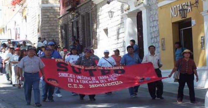Consejo regional respalda huelga indefinida de maestros en Moquegua