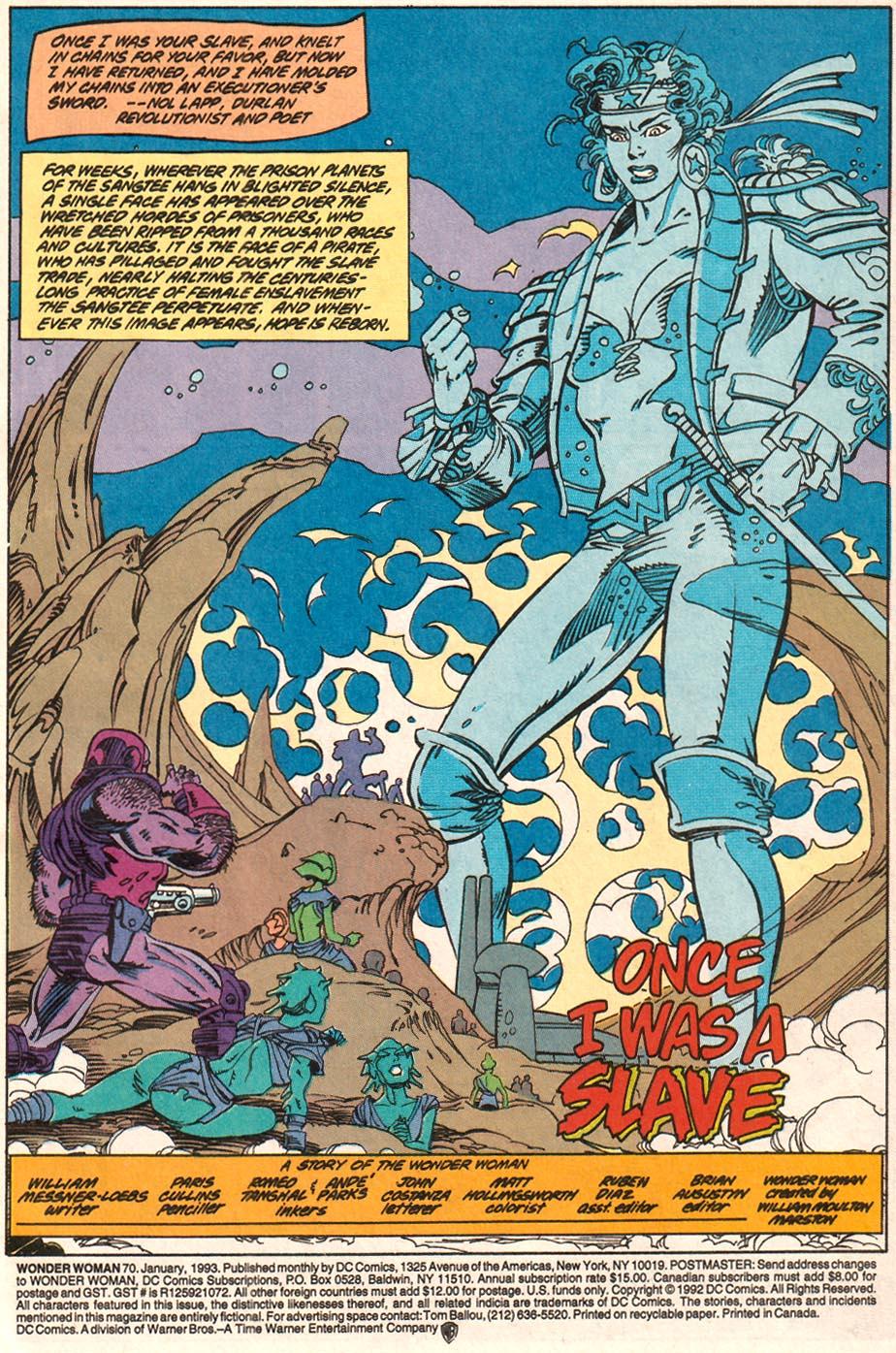 Read online Wonder Woman (1987) comic -  Issue #70 - 2