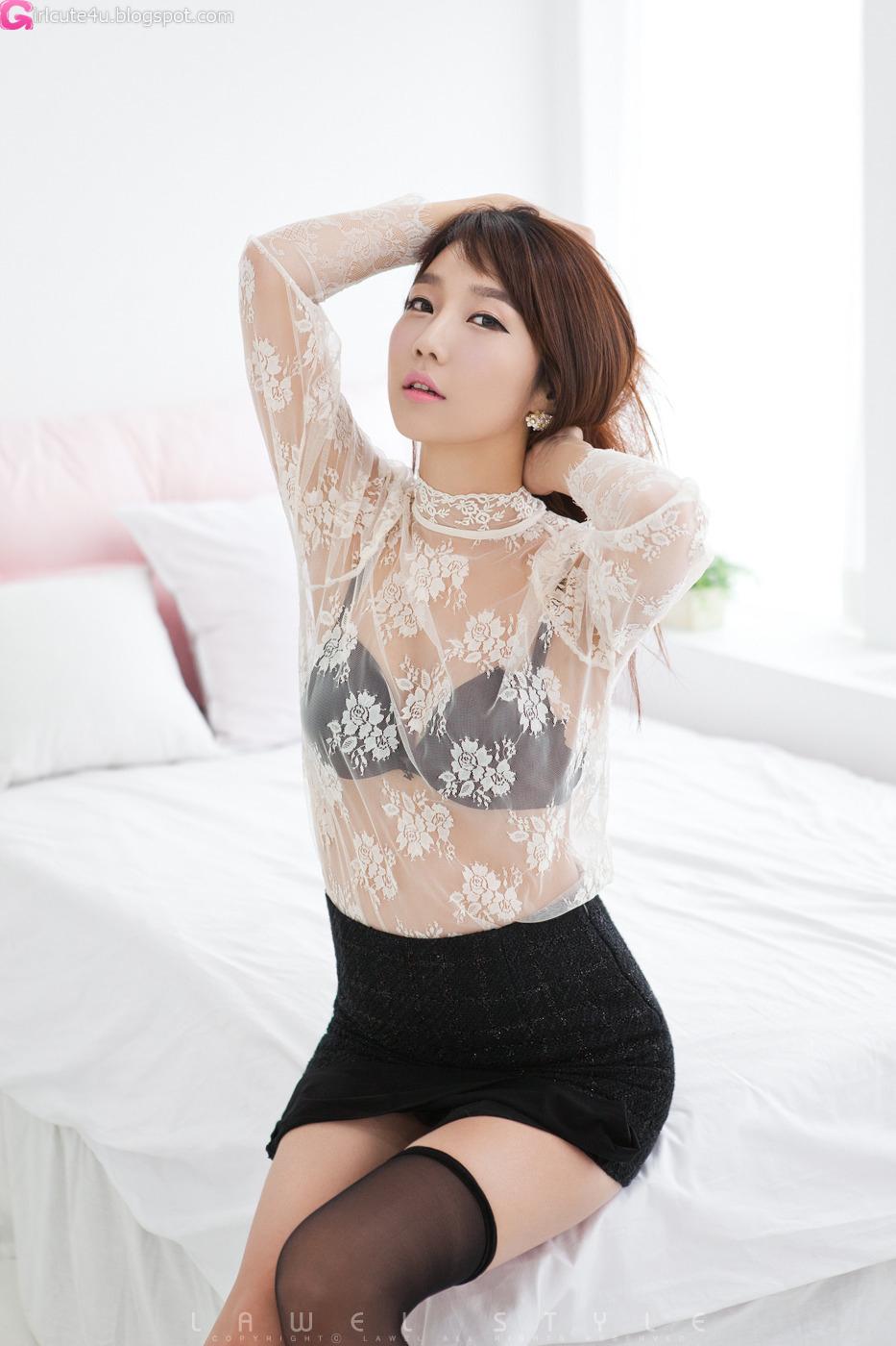 Xxx nude girls: Go Jung Ah in Black