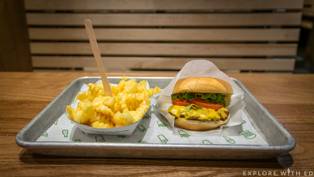 Shake Shack burger and crinkly fries