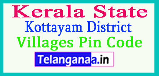 Kottayam District Pin Codes in Kerala State