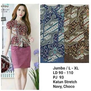 contoh blouse batik modern