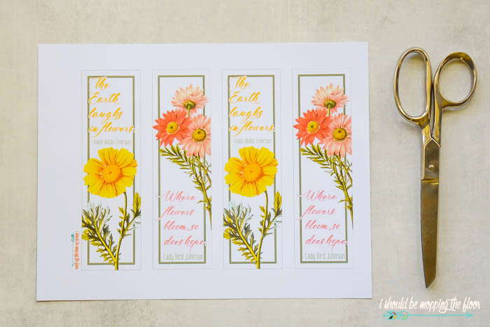Daisy Bookmark Printables
