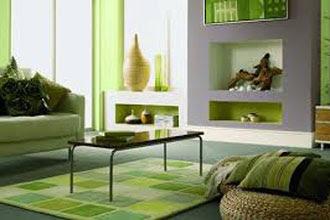 warna cat ruang tamu 2 warna untuk rumah tingkat