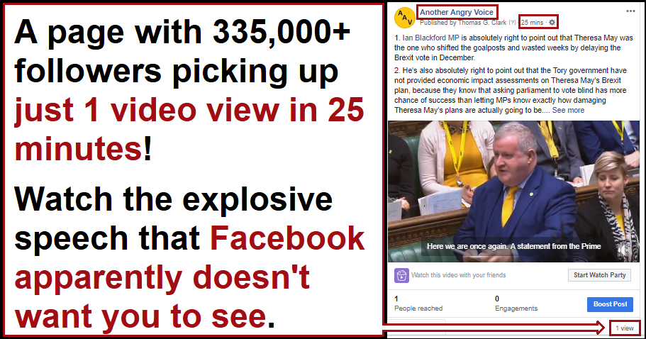 Watch the explosive speech that Facebook apparently doesn't want you