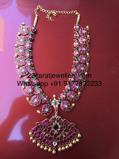 92.5 Silver Heavy and Simple Kundan Mango Set