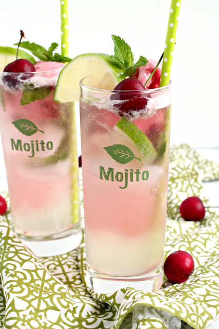 ... cherry come together perfectly in these frosty Cherry Limeade Mojito