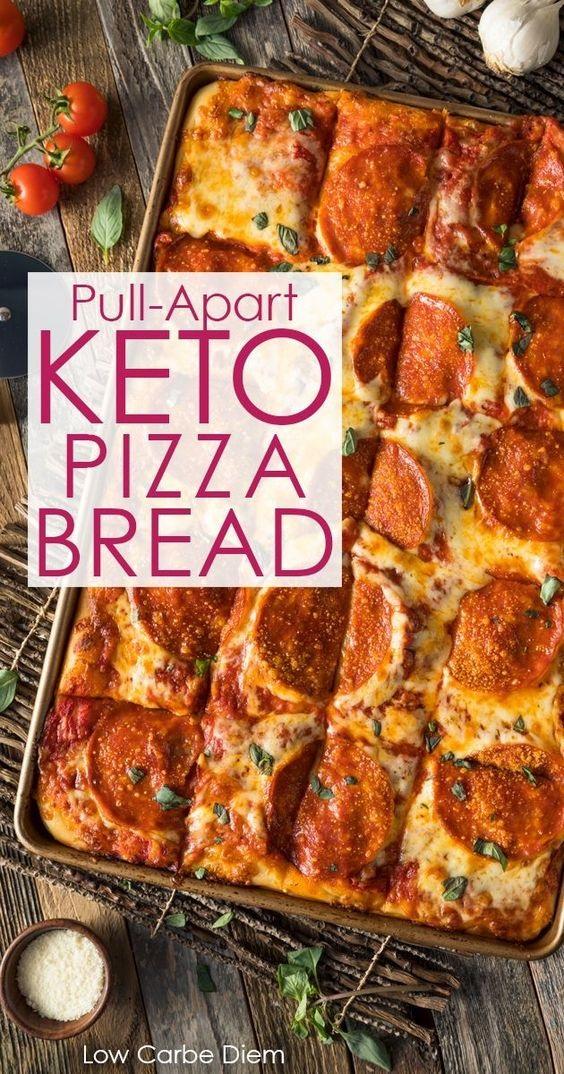 Keto Pizza Bread (Pulls Apart)