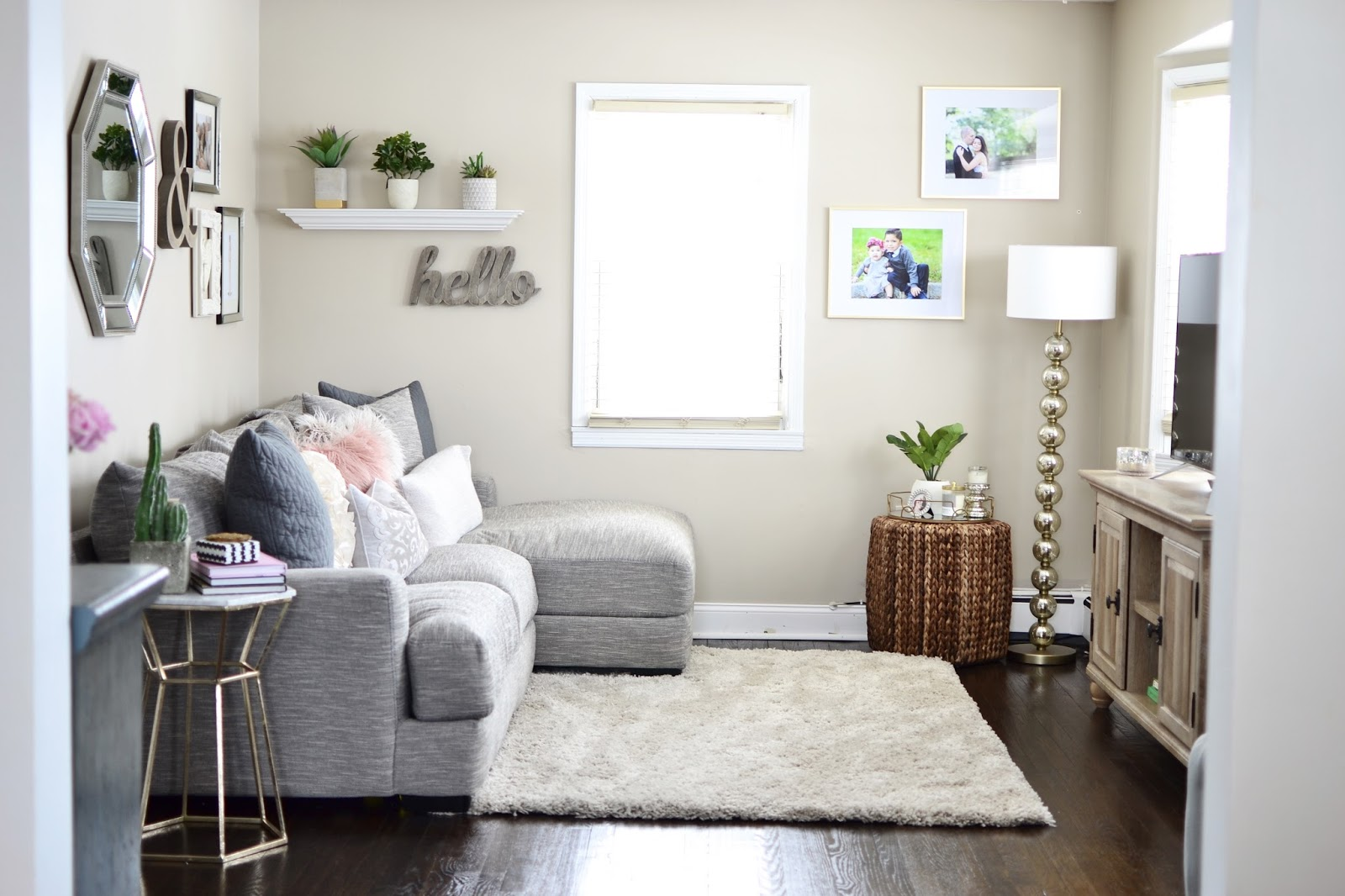 OUR LIVING ROOM TOUR   By Erika Batista