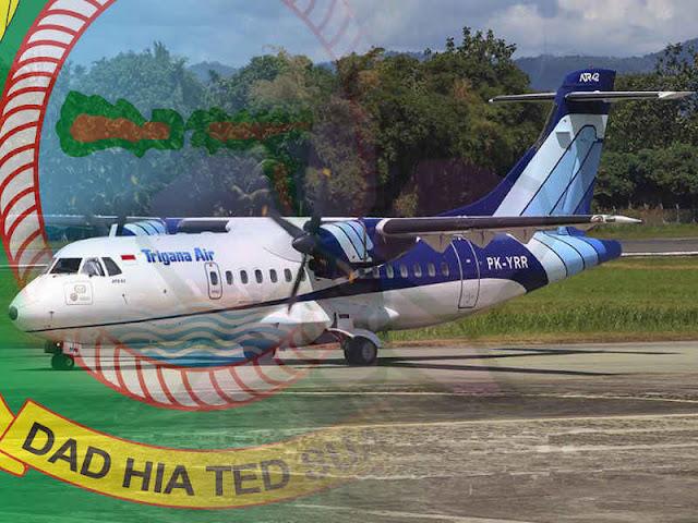 Trigana Air Mendarat Perdana di Bandara Emalamo Sanana