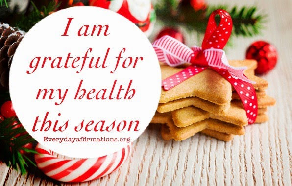 daily affirmations, affirmations for health, affirmations for Christmas, affirmations for new year