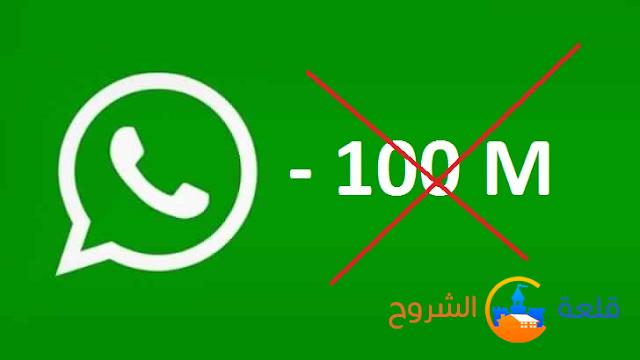 الواتس آب قريبا سيفقد 100 مليون مستخدم