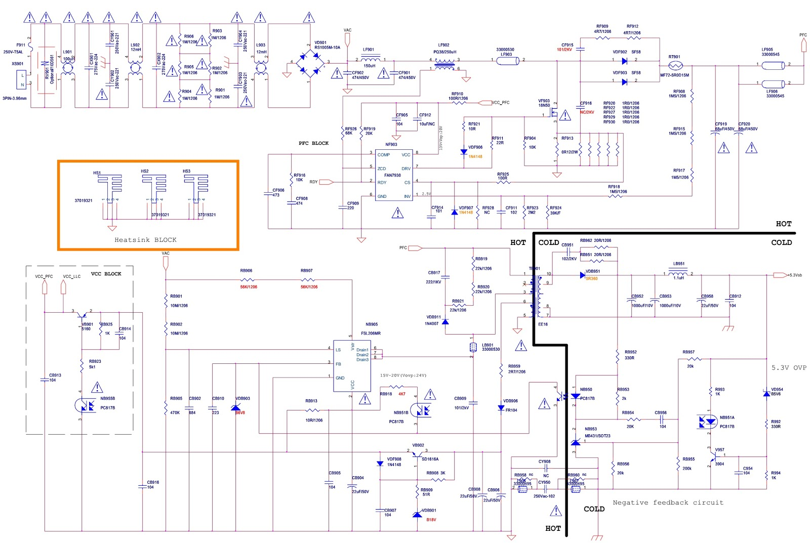 konka kip l090e02c1 01 psu lcd tv power supply inverter schematic [ 1600 x 1073 Pixel ]