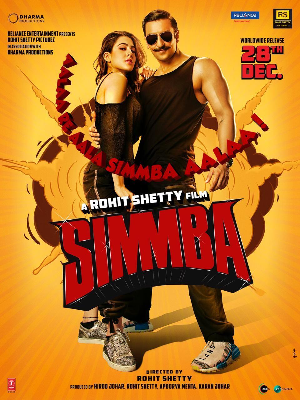 Simmba (2019) 720p + 1080p WEB-DL x264 ESubs AAC Hindi 1 36GB + 2 39