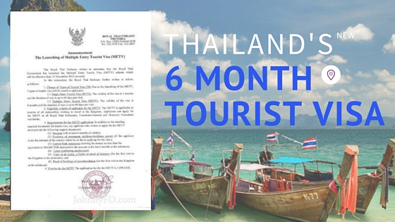 Thailand S 6 Month Multiple Entry Tourist Visa Is Official