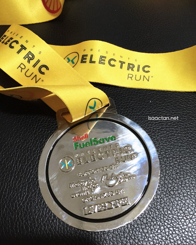 Electric Run Malaysia 2016 Powered By Shell FuelSave Finisher Medal (Back)