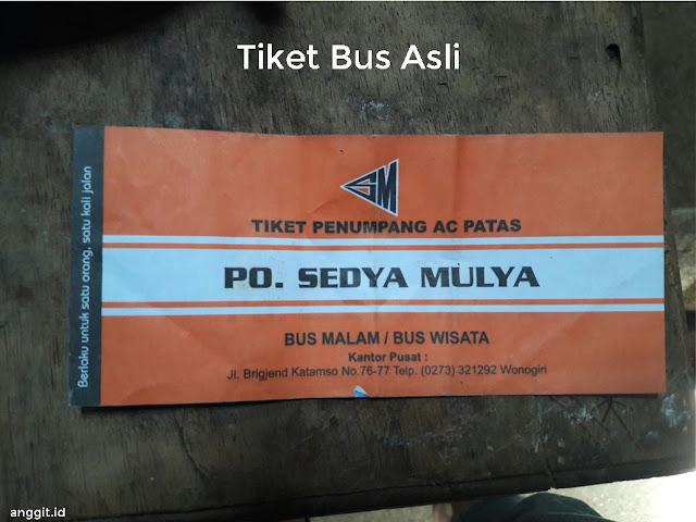 Tiket Bus Asli Sedya Mulya