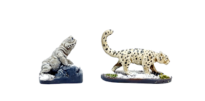 Frostgrave Ice Toad Snow Leopard