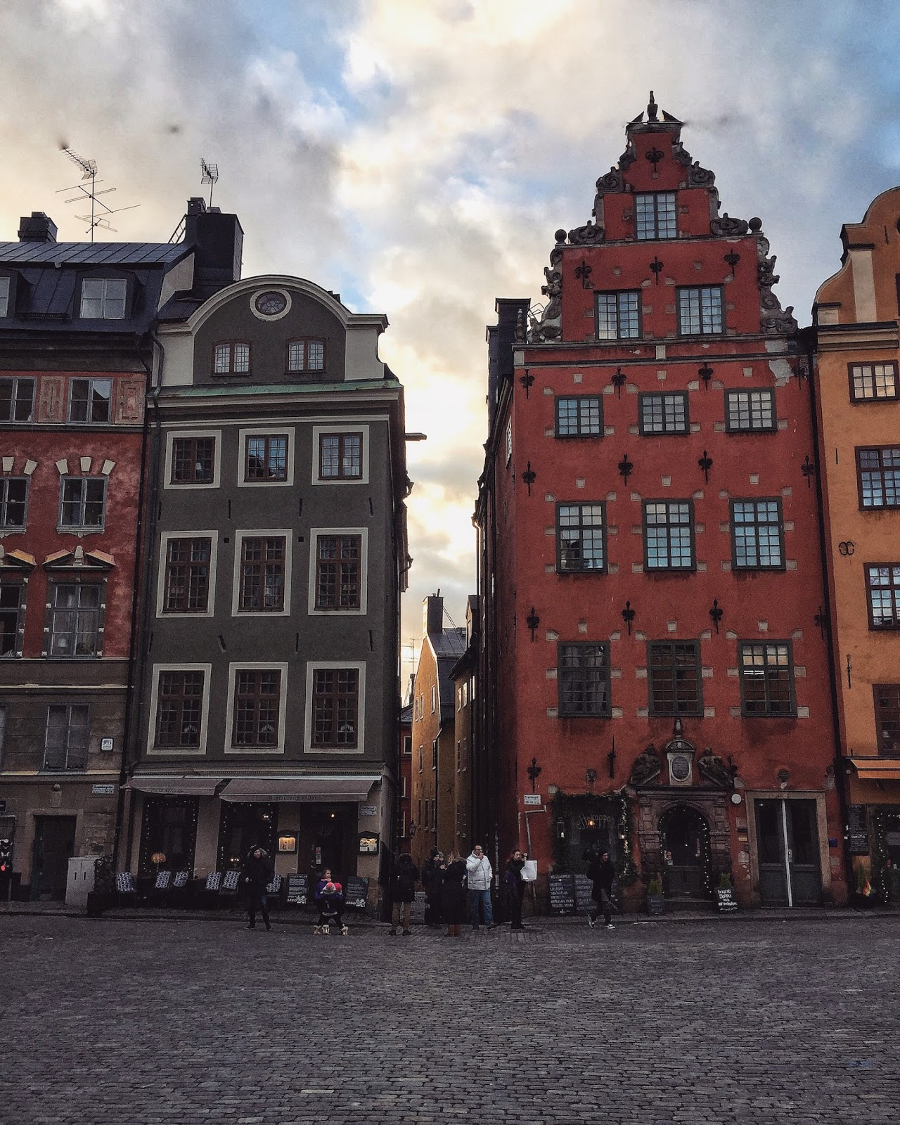 Travel diary stockholm sweden coloured houses in gamla stan
