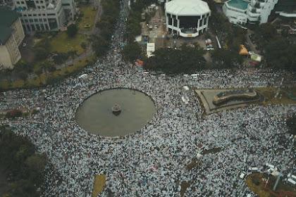 Inilah Foto-foto Udara Aksi Bela Islam 313, Ahoker Jangan Masuk, Nanti Sesak Napas...