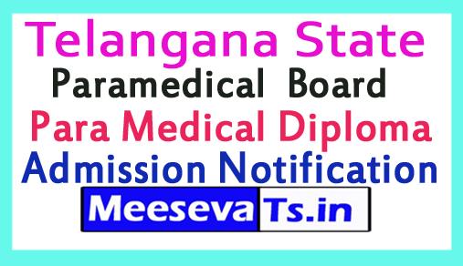 TS Paramedical Admission Notification