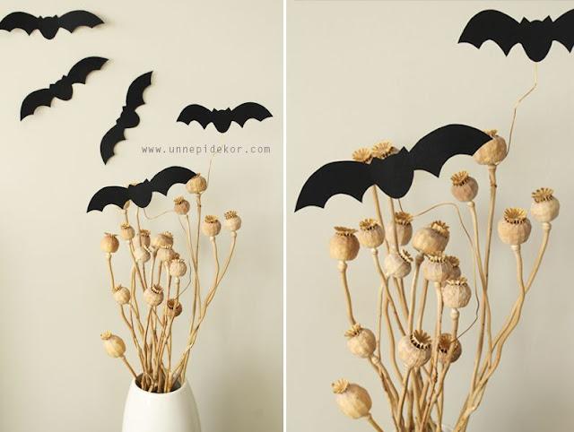 Halloween dekoráció papír denevér