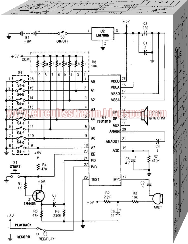 Individual Message Recorder Circuit Diagram