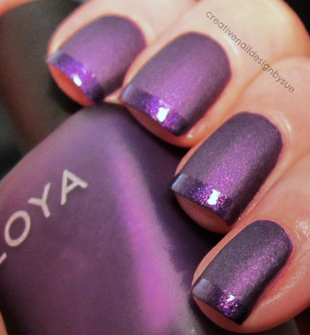 Purple Nails Art Designs