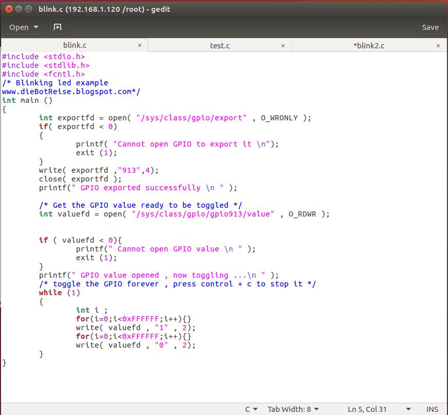 tutorial ZYBO-Linux(III): Program ZYBO with linux  Small program to