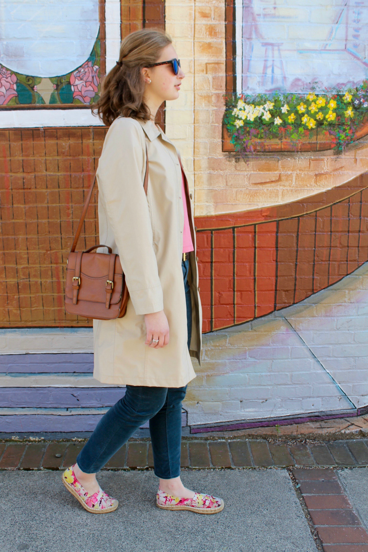 Spring trench coat and ankle pants