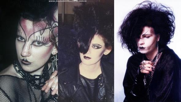 góticos anos 80 batom preto