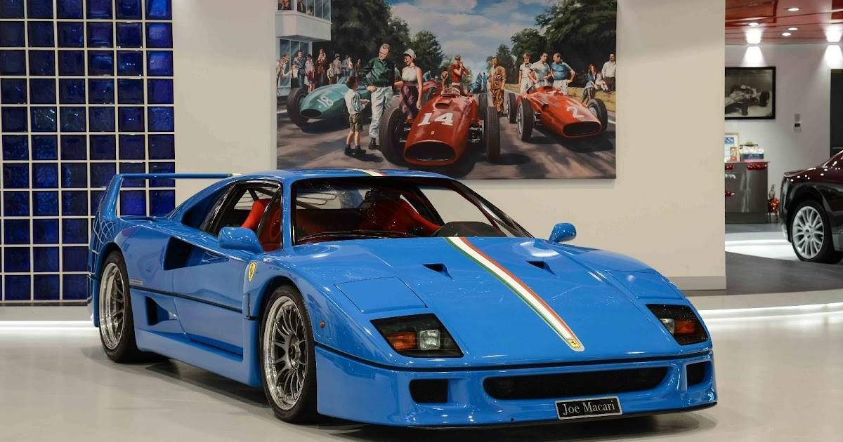 blue ferrari f40 1992 model for sale in the uk on ebay. Black Bedroom Furniture Sets. Home Design Ideas