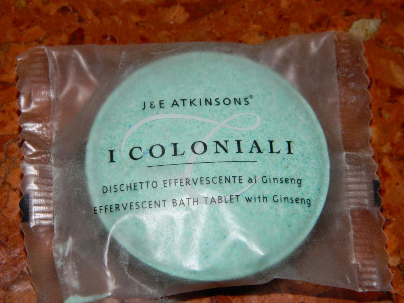 I COLONIALI - musująca tabletka do kąpieli z wyciągiem z żeń-szenia