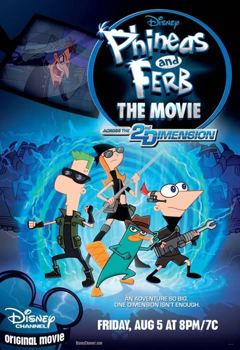 Phineas and Ferb A través de la segunda dimensión 2011 [DVDR Menu Full] Español Latino [NTSC]