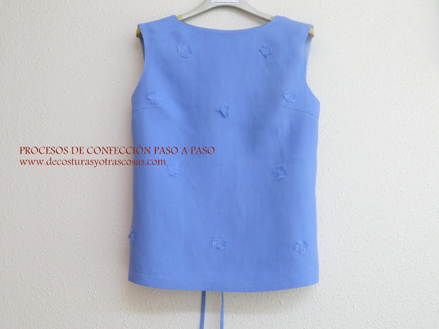 tutorial blusa de lino sencilla