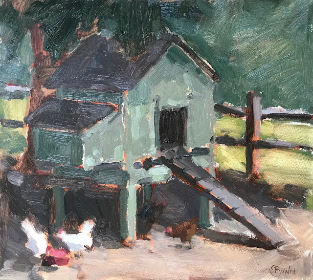 #345 'Chicken House' 10×10″ & NEAC