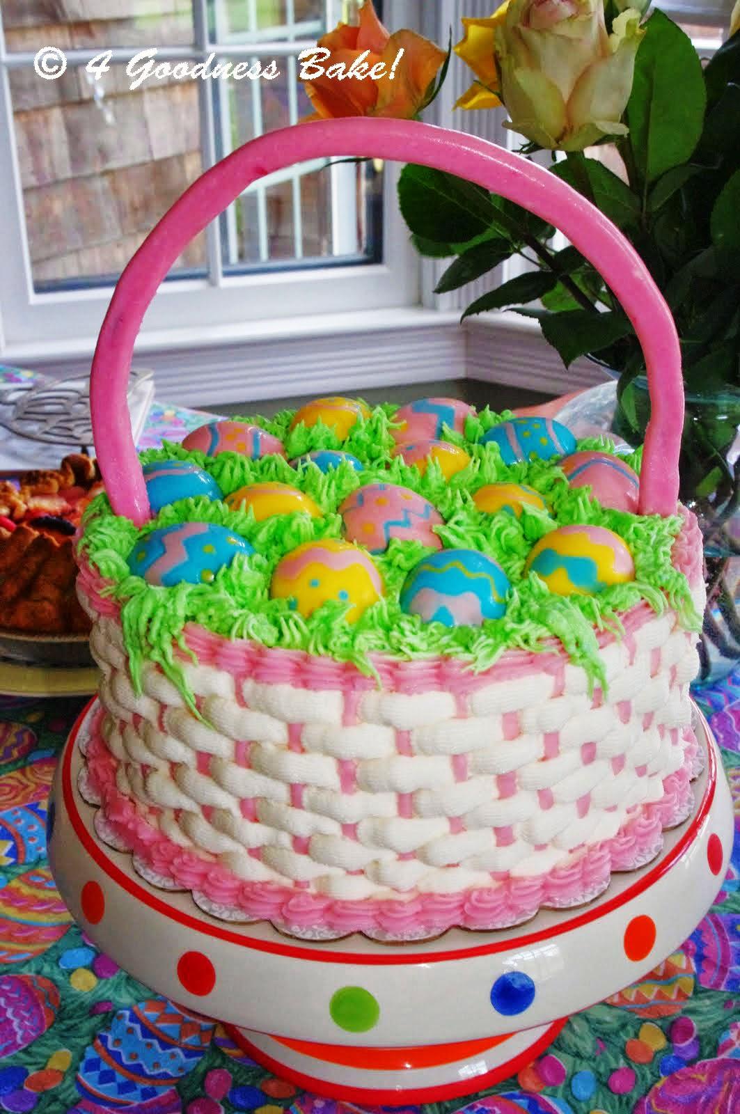 4 goodness bake!: Easter Egg Basket Cake