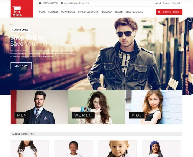 Mega Shop Responsive eCommerce Blogger template