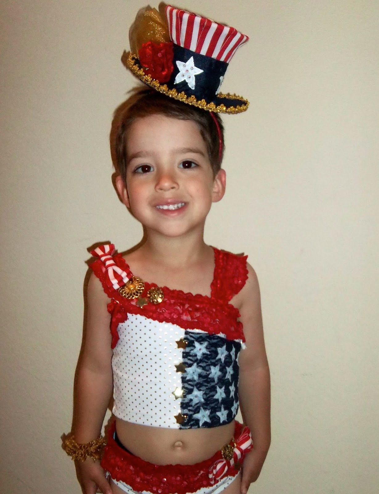 Pageant Wear For Little Girls Red White Blue Patriotic