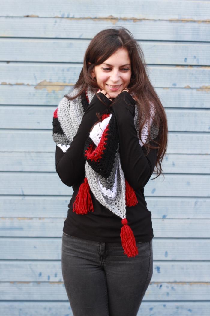 DIY Handmade Tea House Wrap Coffee Shop Shawl Crochet