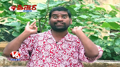 Bithiri sathi Savithri funney talks 26 april 2016 teenmaar news v6 news