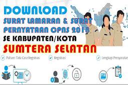 Surat Lamaran dan Surat Pernyataan CPNS 2018 PDF Semua Kabupaten Kota di Provinsi Sumatera Selatan
