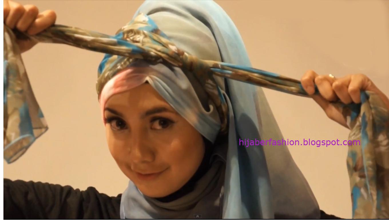 cara memakai jilbab kombinasi 4